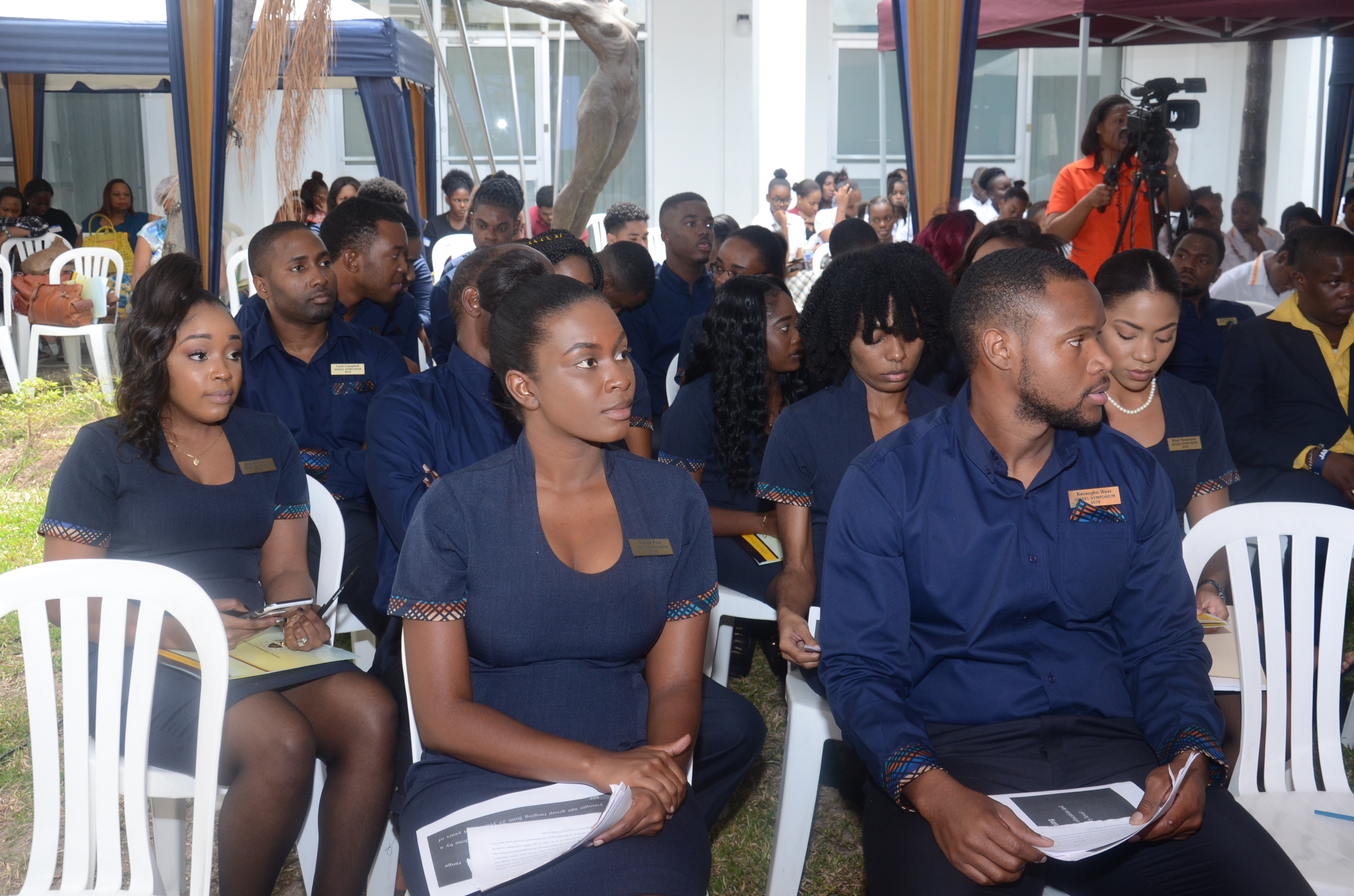 """Student of the Joan Duncan School of Entrepreneurship, Ethics and Leadership and Future Entrepreneurs seated during the Issues in Entrepreneurship Development: Symposium, on Tuesday, March 20, 2018, under the theme, """"Entrepreneurs Going for Growth and Regional Competitive Edge"""" held at the Technology Innovation Centre on the UTech, Ja. Papine Campus."""