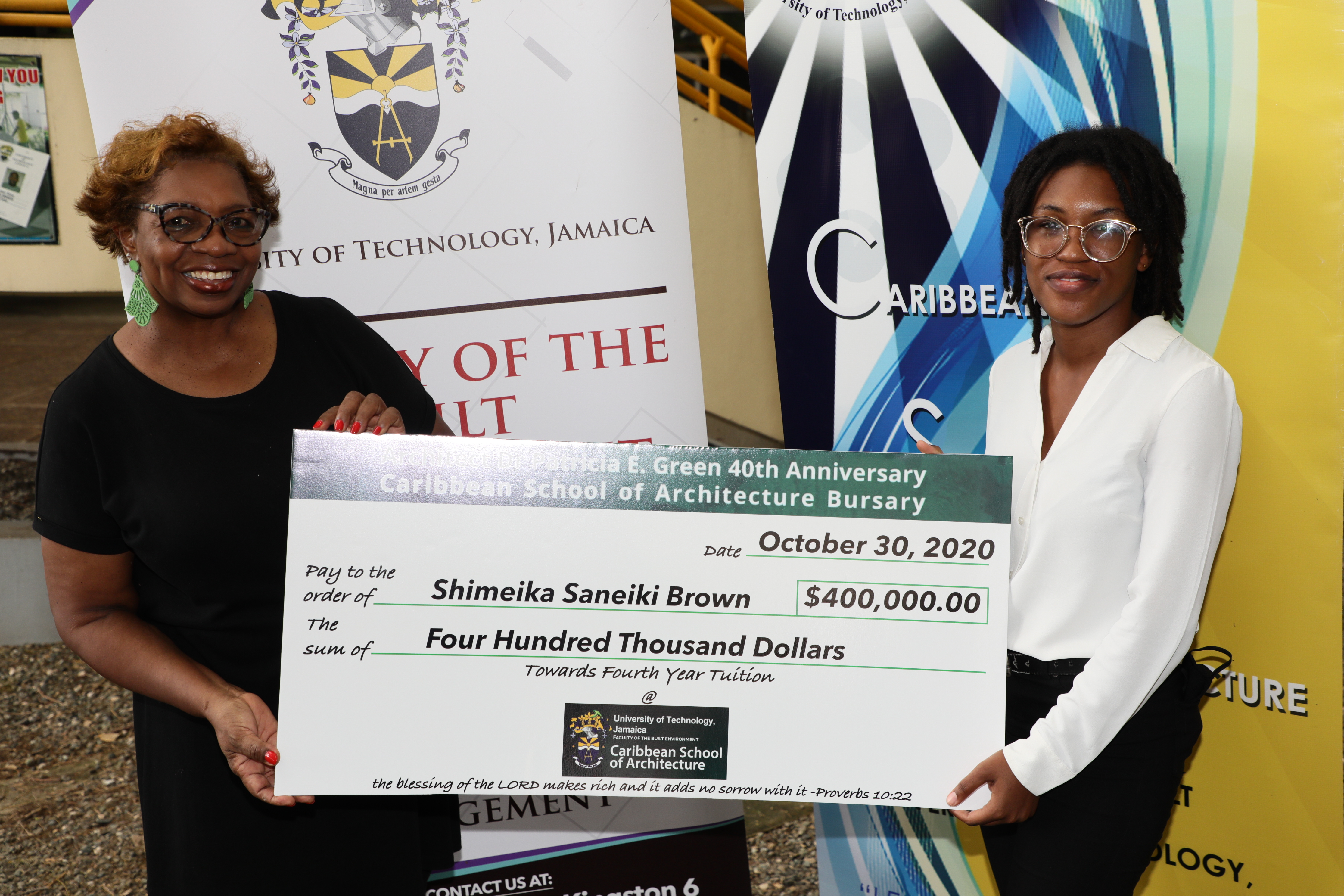 Architect Dr. Patricia Green Marks 40 Years in the Profession with  Scholarship to CSA Student
