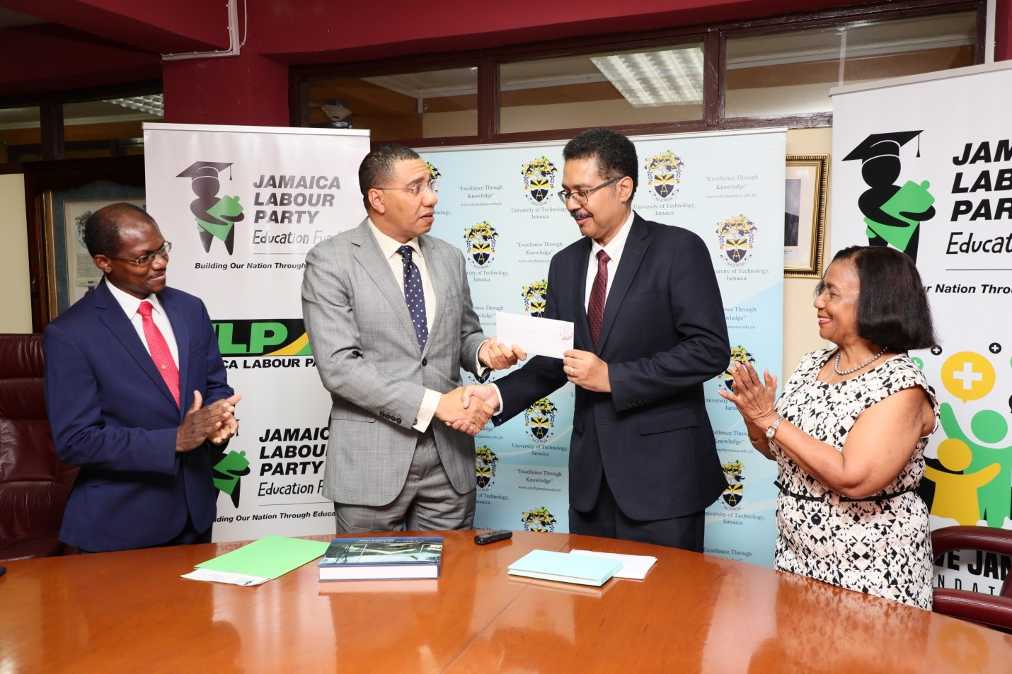 Prime Minister Donates $2.5M to UTech, Jamaica for Students in Need