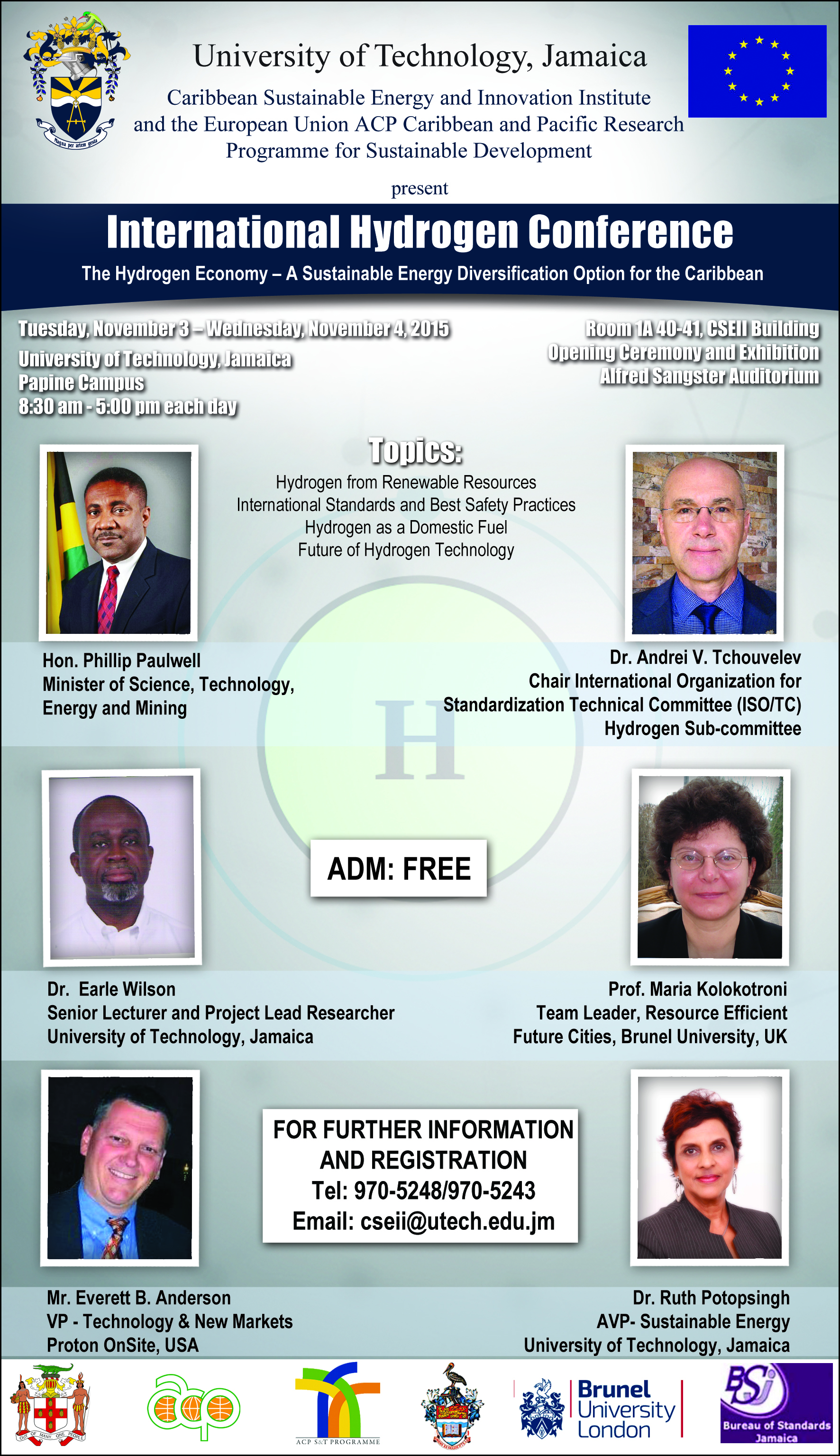 UTech, Jamaica International Conference to Highlight Hydrogen as a Sustainable Domestic Fuel
