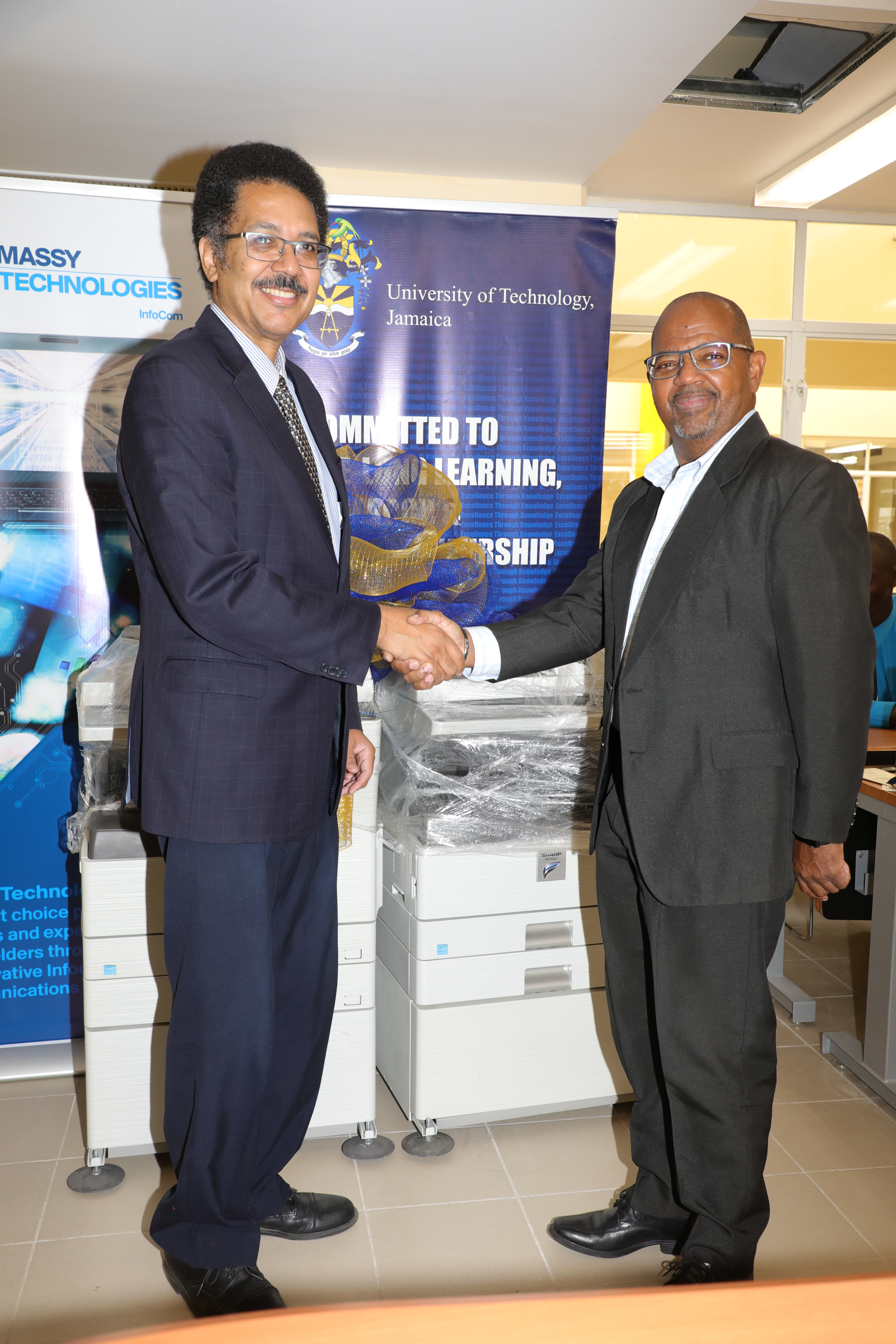 UTech, Jamaica Receives Donation of Printers from Massy Technologies