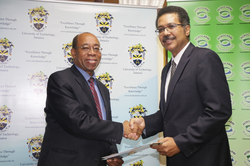 UTech, Jamaica signs Contract Agreement with PetroCaribe Development Fund for Renewable Energy Training Project at Glenmuir High School