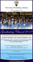 ADVISORY: Graduation Ceremonies - November 2 and 3, 2019