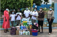Students and Lecturers donate supplies to the Jamaica National Children's Home
