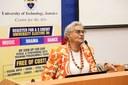 Veteran Broadcaster and Media Trainer Alma Mock Yen speaks at UTech, Ja Centre for the Arts Festival of the Arts