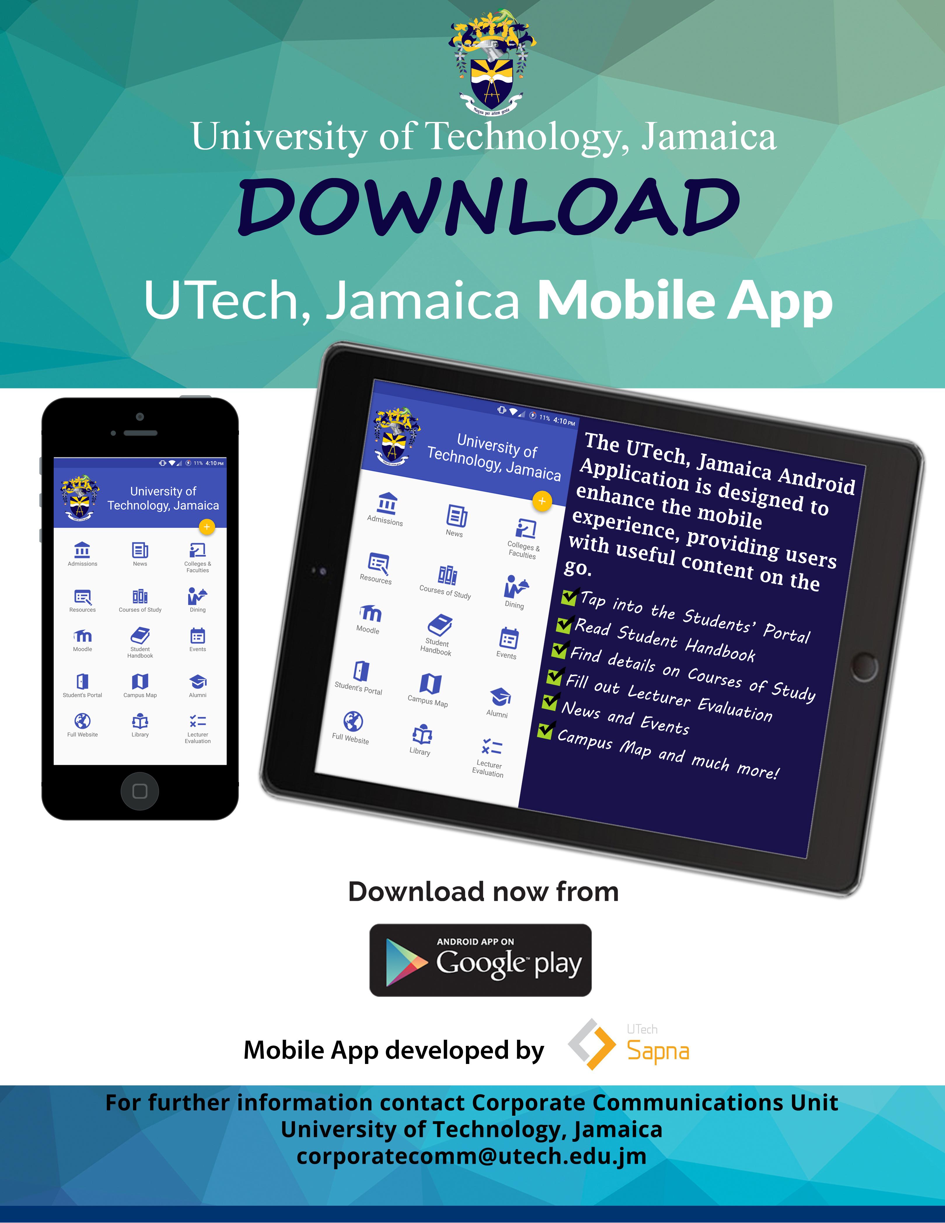 UTech, Jamaica Launches Mobile App